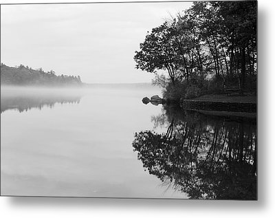 Misty Cove Metal Print by Luke Moore
