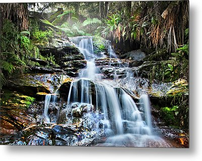 Metal Print featuring the photograph Misty Falls by Az Jackson