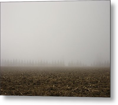 Misty Fields Metal Print by Sheryl Burns