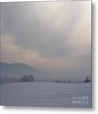 Misty Frosty Day Metal Print by Angel  Tarantella