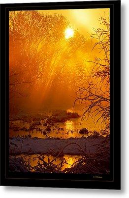 Misty Kentucky Sunrise Metal Print by Keith Bridgman