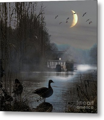 Misty Moonlight Metal Print by LemonArt Photography