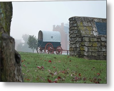Metal Print featuring the photograph Misty Morning At Fort Smith National Historic Site - Arkansas by Gregory Ballos