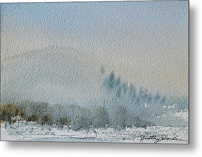A Misty Morning Metal Print