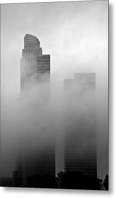 Misty Morning Flight Metal Print