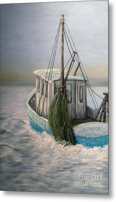 Misty Morning Metal Print by JoAnn Wheeler