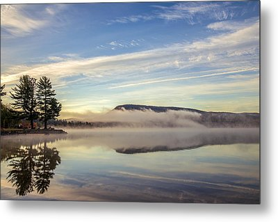Misty Morning Metal Print by Mark Papke