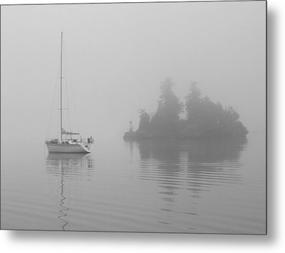 Metal Print featuring the photograph Misty Morning by Mark Alan Perry