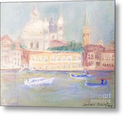 Misty Morning On The Canale Grande Metal Print by Barbara Anna Knauf
