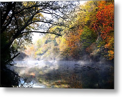 Misty Morning On The Current Metal Print by Marty Koch