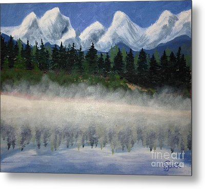 Misty Morning On The Mountain Metal Print
