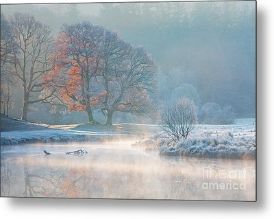 Misty Morning On The River Brathay Metal Print