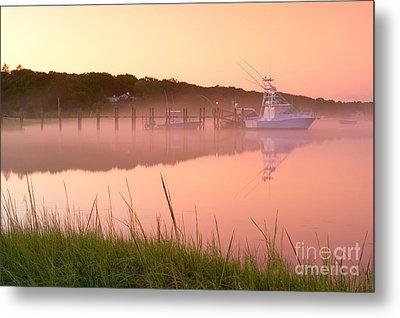 Misty Morning Osterville Cape Cod Metal Print by Matt Suess