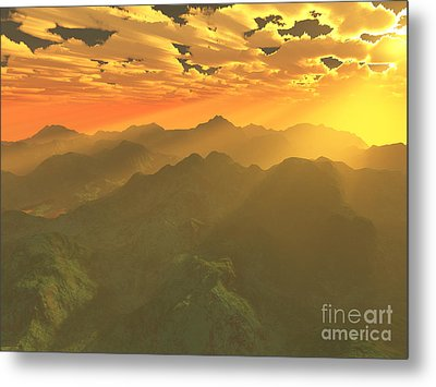 Misty Mornings In Neverland Metal Print by Gaspar Avila