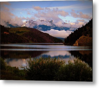Misty Mountain Morning Metal Print by Karen Shackles