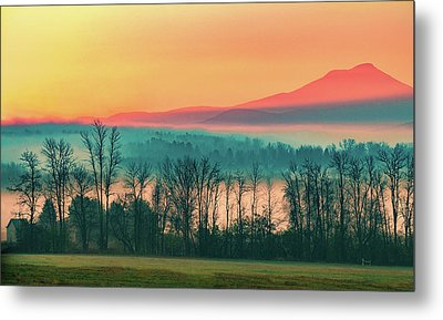 Misty Mountain Sunrise Part 2 Metal Print by Alan Brown