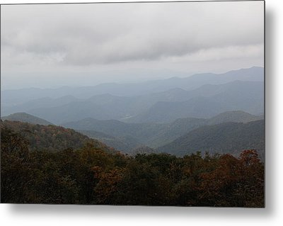 Misty Mountains More Metal Print