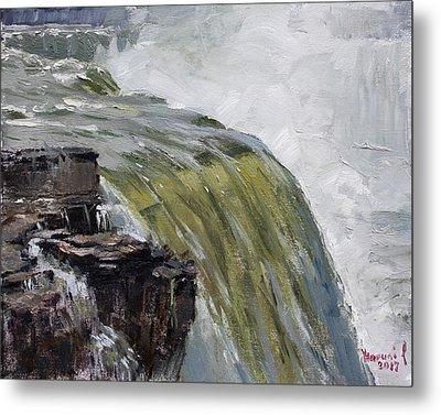 Misty Niagara Falls Ny Metal Print by Ylli Haruni