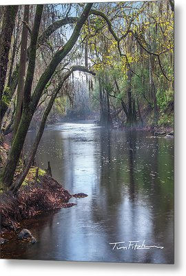 Misty River Metal Print by Tim Fitzharris