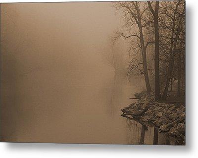 Misty River - Vintage  Metal Print