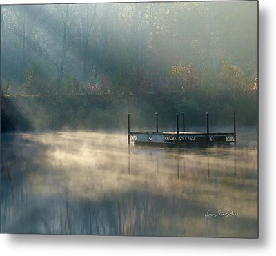 Metal Print featuring the photograph Misty Sunrise by George Randy Bass