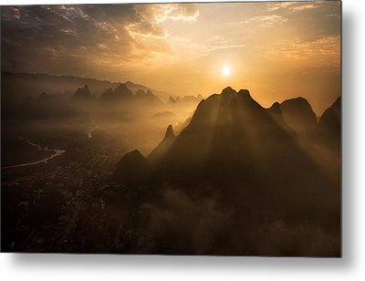 Misty Sunrise Metal Print by Nadav Jonas