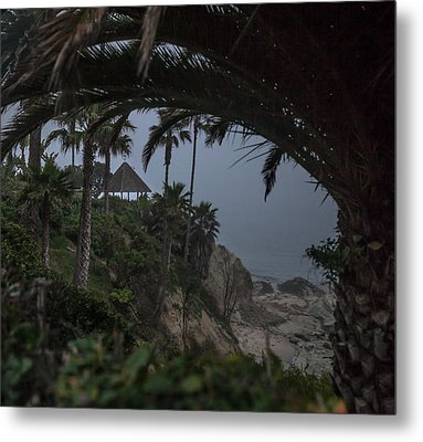 Metal Print featuring the photograph Misty View Of Gazebo Along Heisler Park by Cliff Wassmann