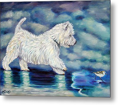 Misty - West Highland Terrier Metal Print
