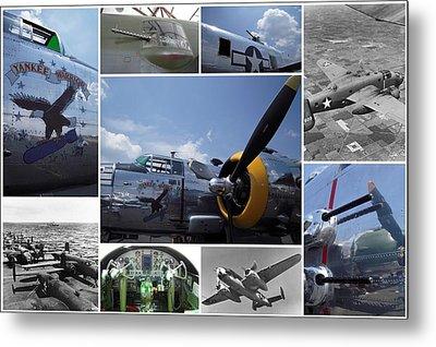 Mitchell B-25 Collage Metal Print