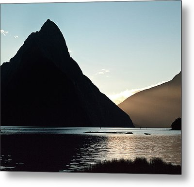 Mitre Peak Milford Sound New Zealand Metal Print