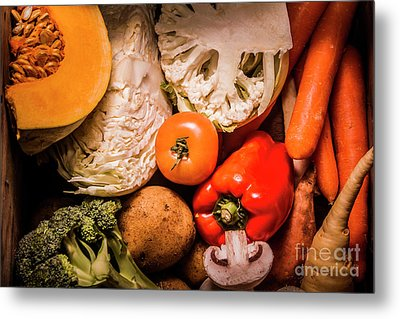 Mixed Vegetable Produce Pack Metal Print by Jorgo Photography - Wall Art Gallery