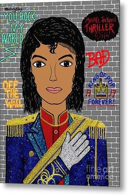 King Of Pop Metal Print by Mallory Blake
