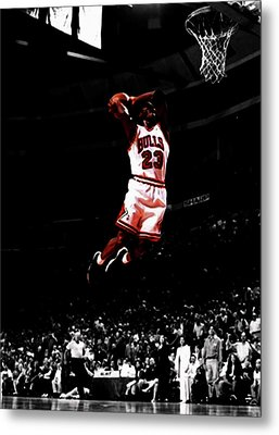 Mj Rises Metal Print by Brian Reaves
