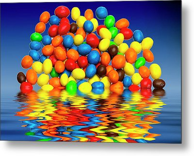 Metal Print featuring the photograph Mm Chocolate Sweets by David French