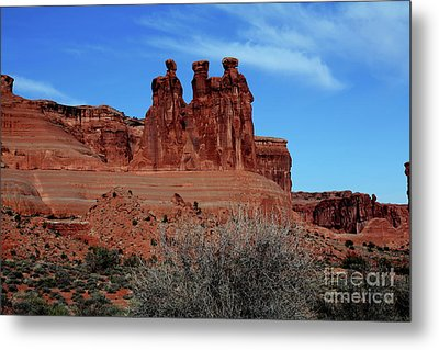 Metal Print featuring the photograph Moab by Edward R Wisell