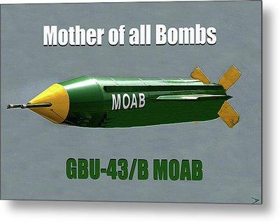 Metal Print featuring the painting Moab Gbu-43/b by David Lee Thompson