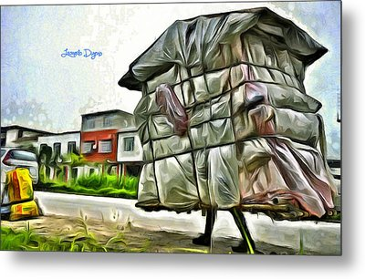Mobile Home - Da Metal Print by Leonardo Digenio