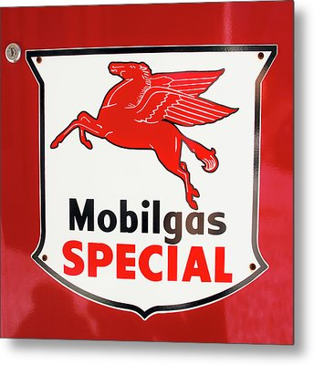 Mobilgas Vintage 82716 Metal Print