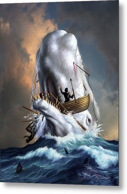 Moby Dick 1 Metal Print by Jerry LoFaro