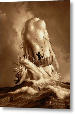 Moby Dick 2 Metal Print by Jerry LoFaro