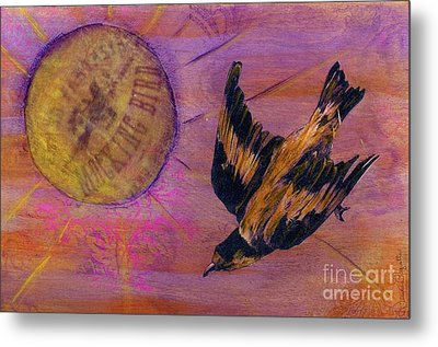 Metal Print featuring the mixed media Mockingbird by Desiree Paquette
