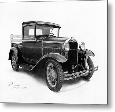Model A Metal Print by Christopher Bracken