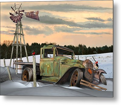 Model A Flatbed Metal Print by Stuart Swartz