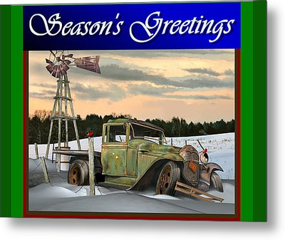 Model A Season's Greetings Metal Print by Stuart Swartz