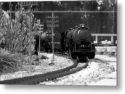 Model Locomotive Metal Print by Debra Forand