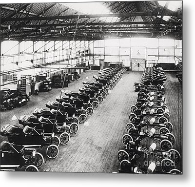 Model T Ford Factory Metal Print by English School