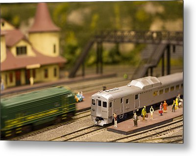 Model Trains Metal Print