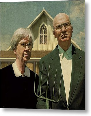 Modern American Gothic Metal Print by Prairie Pics Photography