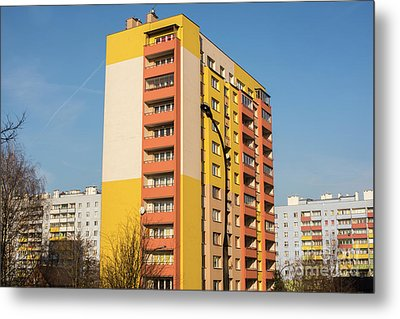 Metal Print featuring the photograph Modern Apartment Buildings by Juli Scalzi