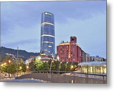 Modern Architecture Bilbao Spain Metal Print by Marek Stepan